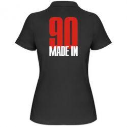 Женская футболка поло Made in 90 - FatLine