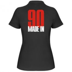 Женская футболка поло Made in 90