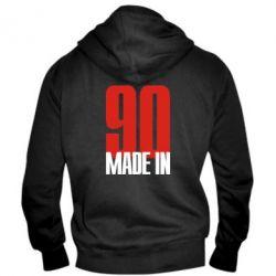 Мужская толстовка на молнии Made in 90 - FatLine
