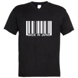 Мужская футболка  с V-образным вырезом Made in japan