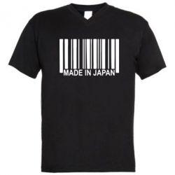 Мужская футболка  с V-образным вырезом Made in Japan - FatLine