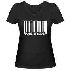 Женская футболка с V-образным вырезом Made in Japan - FatLine