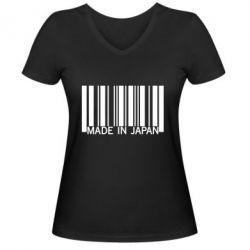 Женская футболка с V-образным вырезом Made in japan