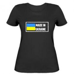 Женская футболка Made in Ukraine Logo