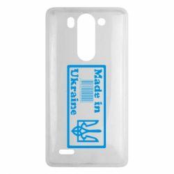 Чехол для LG G3 mini/G3s Made in Ukraine штрих-код - FatLine