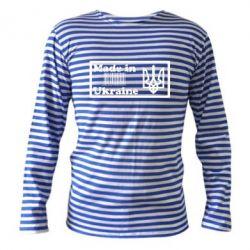 Тельняшка с длинным рукавом Made in Ukraine штрих-код - FatLine