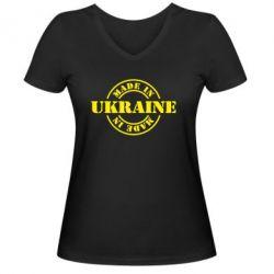 Женская футболка с V-образным вырезом Made in Ukraine - FatLine