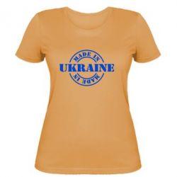 Женская футболка Made in Ukraine - FatLine