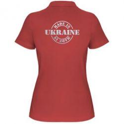 Женская футболка поло Made in Ukraine Голограмма
