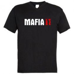 Мужская футболка  с V-образным вырезом Mafia 2 - FatLine