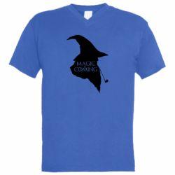 Мужская футболка  с V-образным вырезом Magic is coming