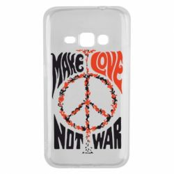 Чехол для Samsung J1 2016 Make love, not war