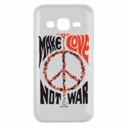 Чехол для Samsung J2 2015 Make love, not war
