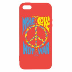 Чехол для iPhone5/5S/SE Make love, not war