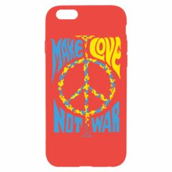 Чохол для iPhone 6/6S Make love, not war
