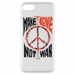 Чехол для iPhone 7 Make love, not war