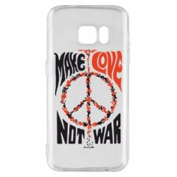 Чохол для Samsung S7 Make love, not war