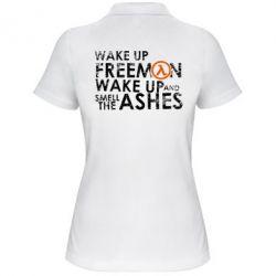 Женская футболка поло Make up, mr. Freeman
