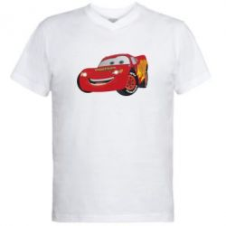 Мужская футболка  с V-образным вырезом Маккуин - FatLine