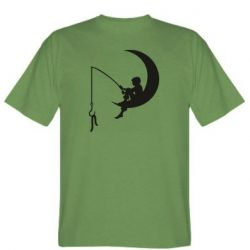 Мужская футболка Мальчик рыбачит
