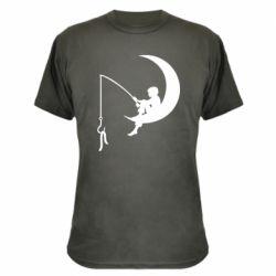 Камуфляжная футболка Мальчик рыбачит