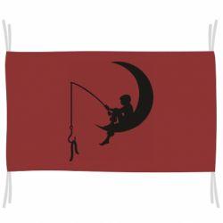 Флаг Мальчик рыбачит