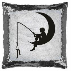 Подушка-хамелеон Мальчик рыбачит