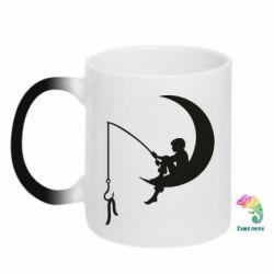 Кружка-хамелеон Мальчик рыбачит