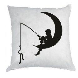 Подушка Мальчик рыбачит
