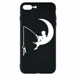 Чехол для iPhone 8 Plus Мальчик рыбачит