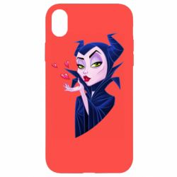 Чехол для iPhone XR Maleficent and a kiss