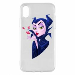 Чехол для iPhone X/Xs Maleficent and a kiss