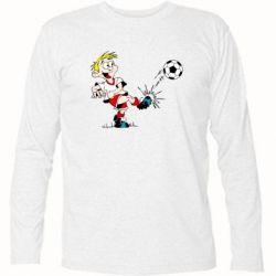 Футболка с длинным рукавом Маленький футболист - FatLine