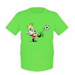Детская футболка Маленький футболист - FatLine