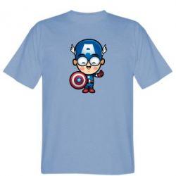 Мужская футболка Маленький Капитан Америка - FatLine