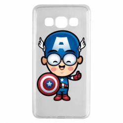 Чехол для Samsung A3 2015 Маленький Капитан Америка