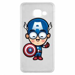 Чехол для Samsung A3 2016 Маленький Капитан Америка