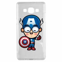 Чехол для Samsung A5 2015 Маленький Капитан Америка