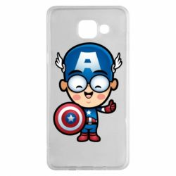 Чехол для Samsung A5 2016 Маленький Капитан Америка