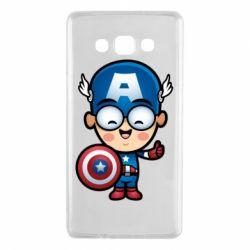Чехол для Samsung A7 2015 Маленький Капитан Америка
