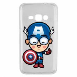Чехол для Samsung J1 2016 Маленький Капитан Америка