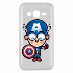 Чехол для Samsung J2 2015 Маленький Капитан Америка