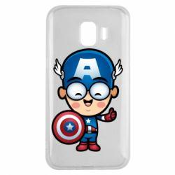 Чехол для Samsung J2 2018 Маленький Капитан Америка