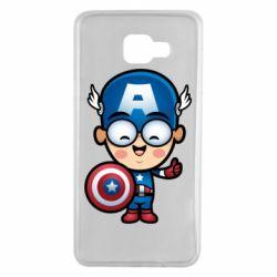Чехол для Samsung A7 2016 Маленький Капитан Америка