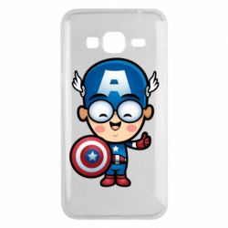 Чехол для Samsung J3 2016 Маленький Капитан Америка