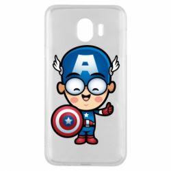 Чехол для Samsung J4 Маленький Капитан Америка