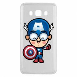 Чехол для Samsung J5 2016 Маленький Капитан Америка