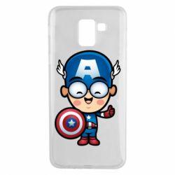 Чехол для Samsung J6 Маленький Капитан Америка