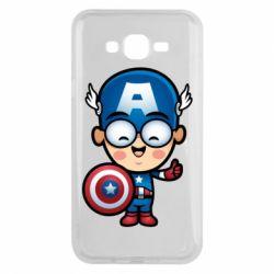 Чехол для Samsung J7 2015 Маленький Капитан Америка