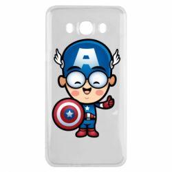 Чехол для Samsung J7 2016 Маленький Капитан Америка